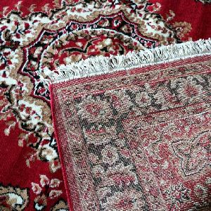 Red Traditional Floral Collection Carpet 01