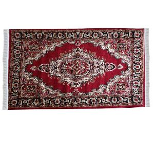 Red Traditional Floral Collection Carpet 02